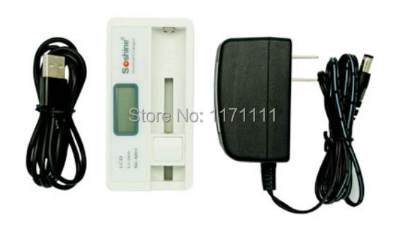 Xterra/ VDE Plug Li-ion 18650 14500 16340 CR123 NiMH AA AAA LCD Universal Battery Charger Soshine Free Shipping(China (Mainland))