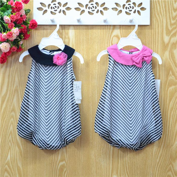 Summer Dress 2014 Vestidos Infantis Girls Dresses Baby girls dresses Bow Children Chiffon Clothing Casual Wear Girl clothes Ja5<br><br>Aliexpress