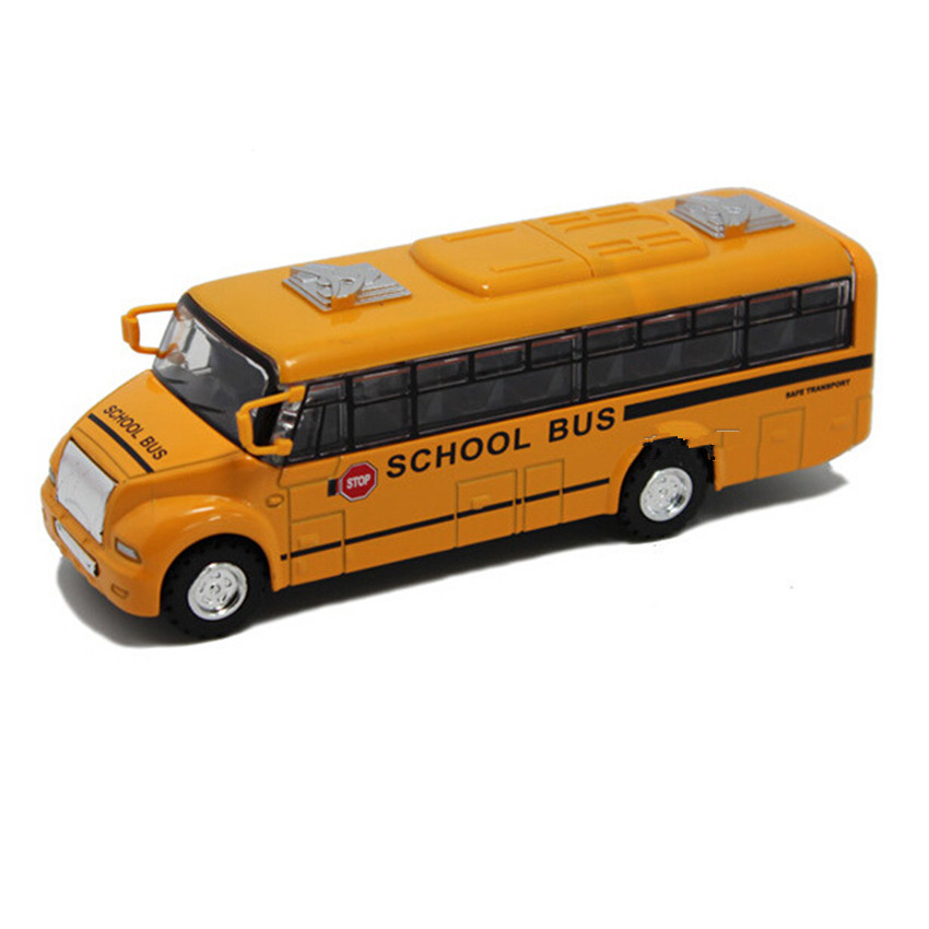 Latest Large Size 1:32 Scale American School Bus Kids Toys, New Style Alloy Bus Car Model Toys for Children(China (Mainland))