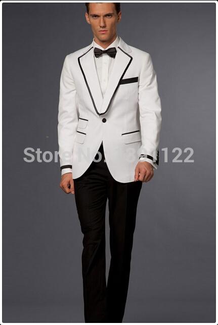 Aliexpress Compre Smoking De Casamento Do Noivo Smoking Branco E Preto Ternos De Melhor