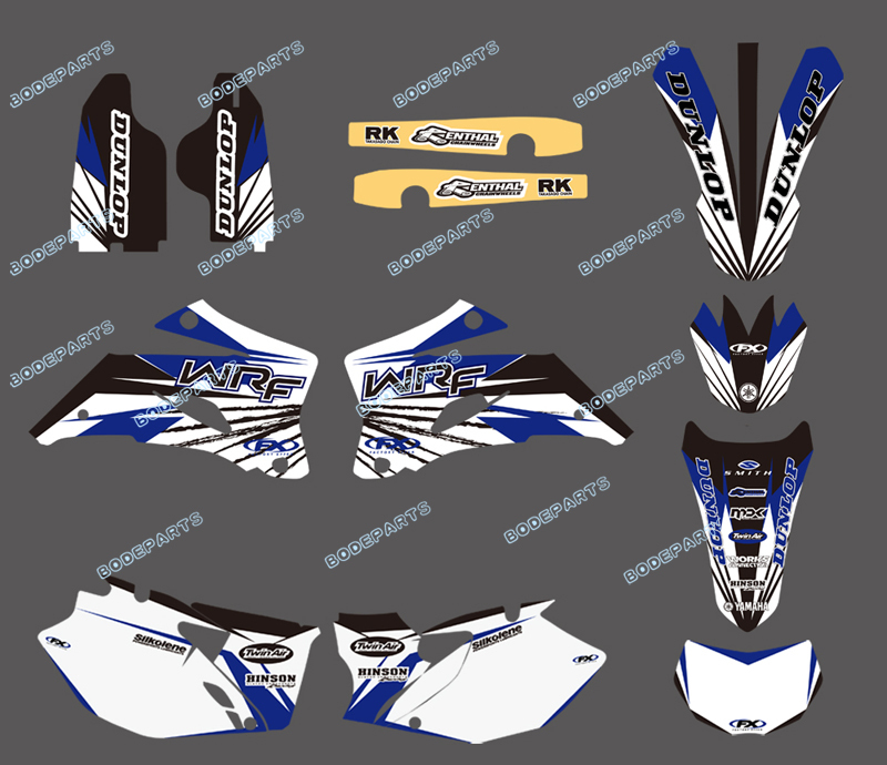 0031NEW STYLE TEAM GRAPHICS&BACKGROUNDS FOR YAMAHA WR250F WR450F 2007 2008 2009 2010 2011 - Yongkang Tongshida Industrial & Trade Co., Ltd. store