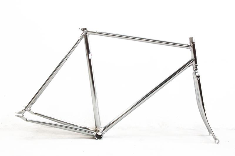 fixed gear framefork columbus cromor chromoly lug vintage pursuit track bike frameset velo pursuit frameset custom made fixie