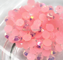 Buy 6mm, 800pcs/Bag pink AB colour DMC Hot Fix FlatBack Rhinestones,machine cut iron-on garment crystal stone gliters for $6.90 in AliExpress store