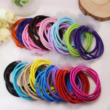 Buy 100Pcs Rubber Hair Bands Ponytail Holder Elastic Head Rope Hair Ties Headwear Girls Hair Accessories Women Kids Girl Lady for $2.28 in AliExpress store