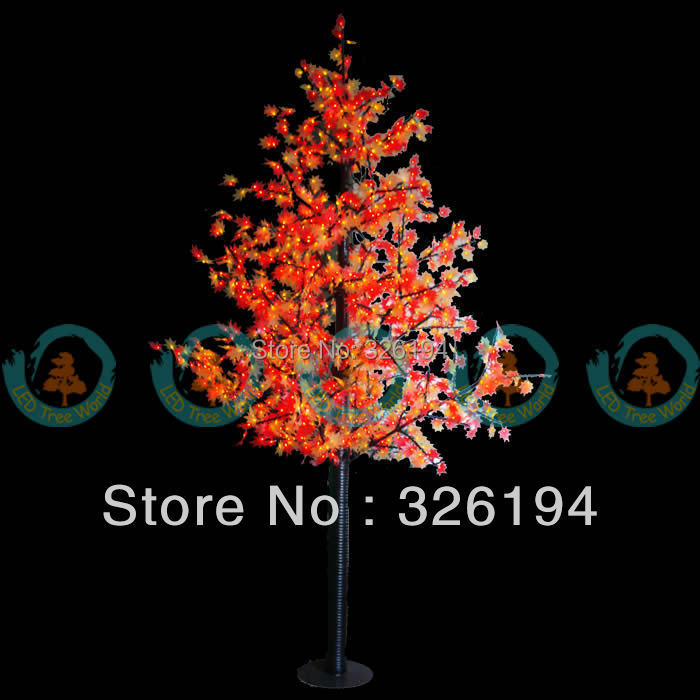 Outdoor light 2 5m 130w red and yellow led maple tree 1500 for Red and yellow christmas tree