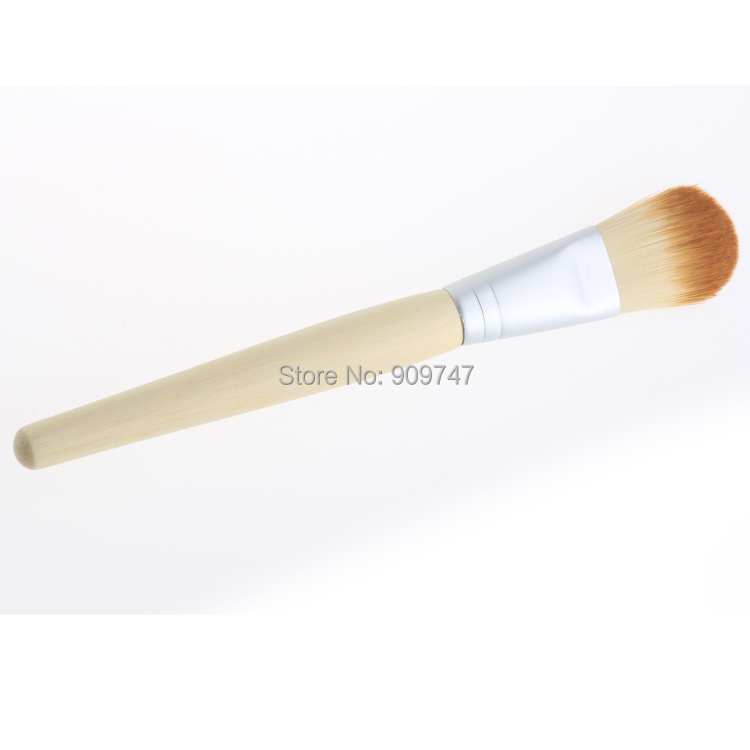 1 PC Hot sale Cosmetic brush single bamboo handle mask blush foundation brush powder brush universal Free shipping(China (Mainland))
