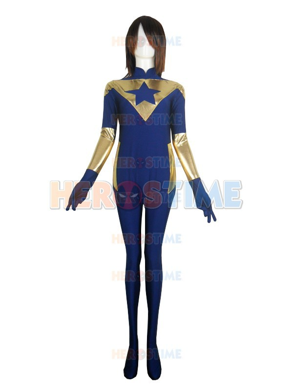 The most classic Booster Gold Film Version Spandex Superhero Costume free shippingОдежда и ак�е��уары<br><br><br>Aliexpress
