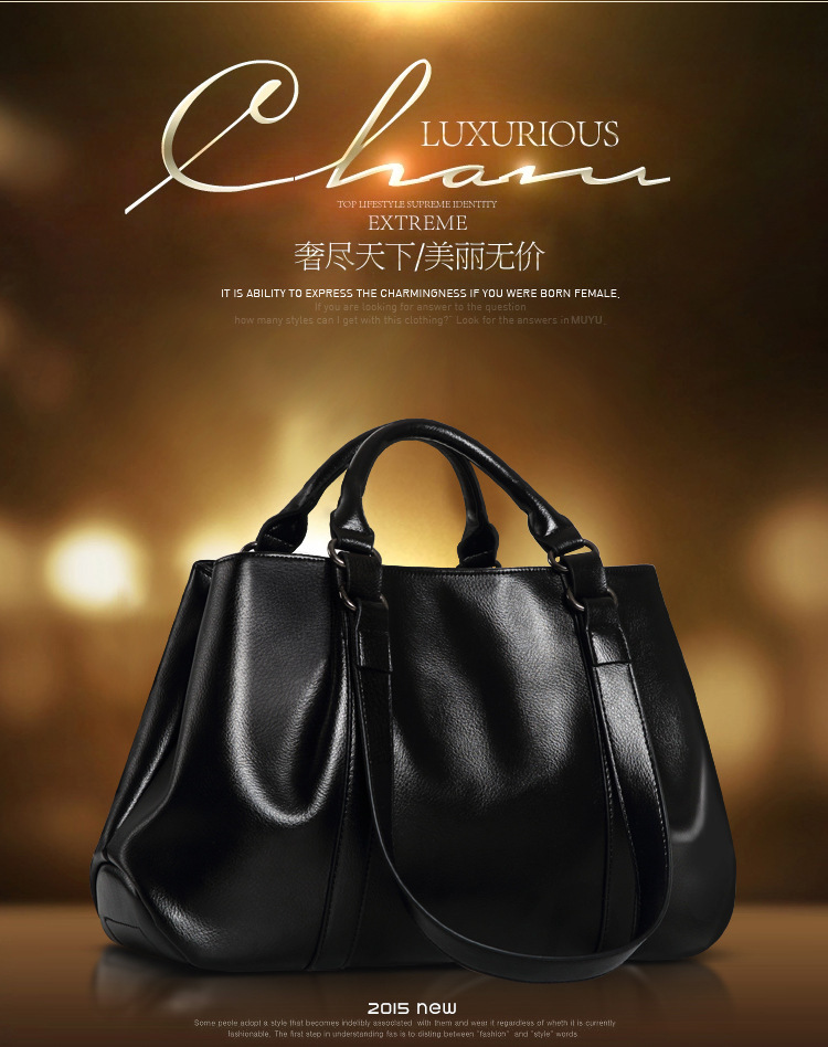 N14 Genuine Leather Bag 2015 New Hot Women Leather Handbag Fashion Women Messenger Bags Hot Shoulder Bag Women Tote(China (Mainland))