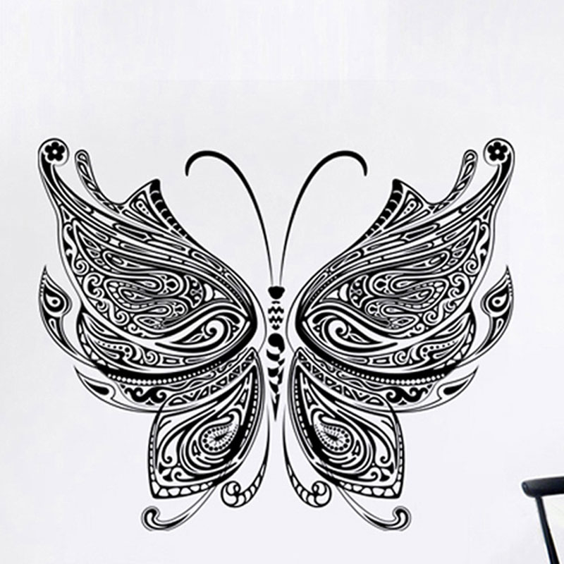 Chinese wind butterfly sticker self adhesive custom importir mural Living room bedroom TV home decor pvc wall sticker(China (Mainland))