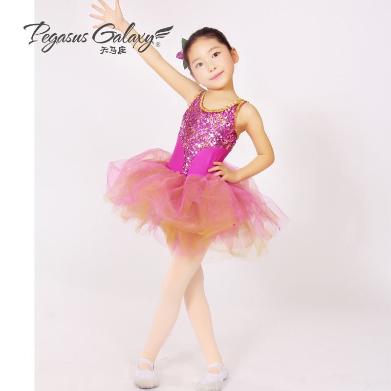 The new Childrens female short shiny new spring and summer clothes and stage performances ballet skirt 1766<br><br>Aliexpress