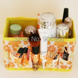 Best selling! Folding Make Up Cosmetic Storage Box Container Bag Case 5Pcs/Lot Free shipping