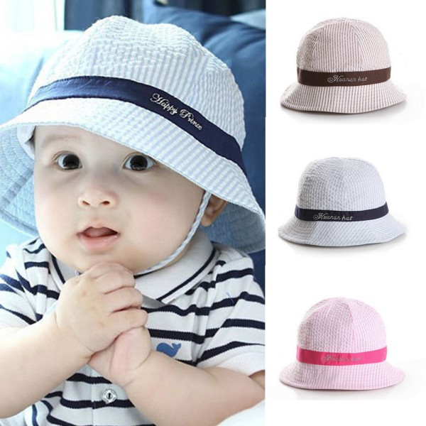 Toddler Infant Sun Cap Summer Outdoor Baby Girl Hats Sun Beach Bucket Hat 3 Colors(China (Mainland))