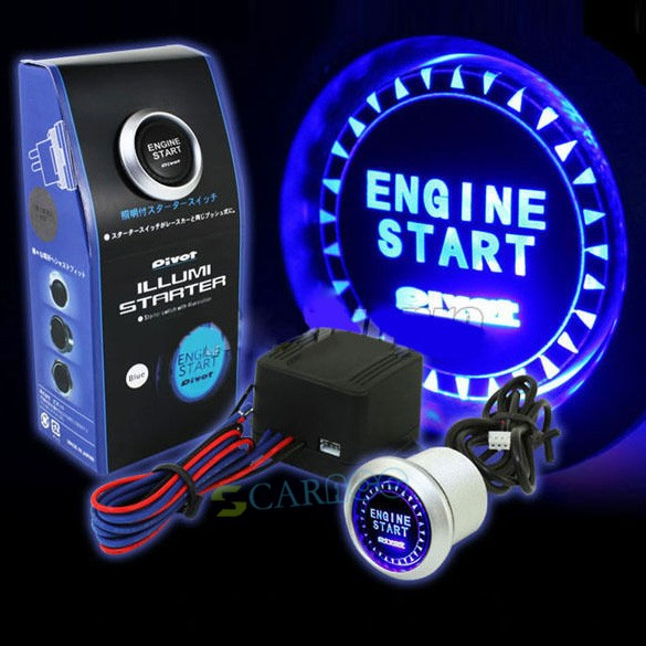 Hot Sell LED Illumination Auto  Car Keyless Engine Starter Ignition Push Start Button Switch With Retail Box SV001478 b011<br><br>Aliexpress