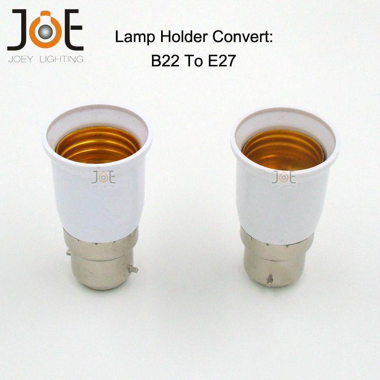 Lamp Holder Converter B22 to E27 Free shipping 25pcs/lot lamp holder socket base adapter ABS Socket for LED E27 bulbs Light(China (Mainland))