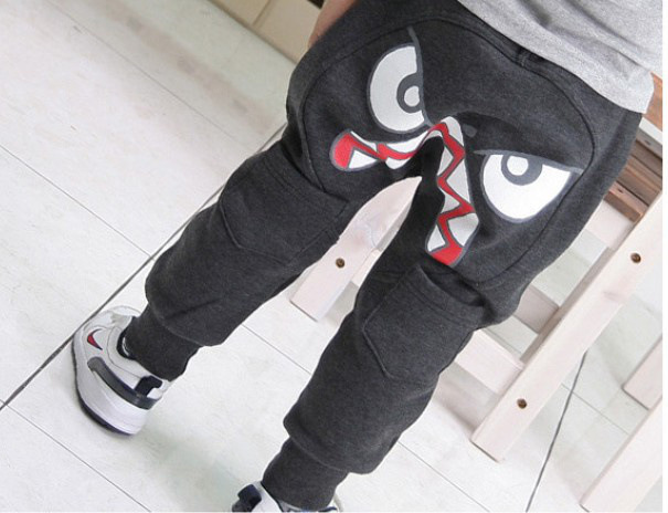 2015 New Fashion Popular Kids Clothing Boys Girl Unique Clothes Harem Pants boys Cartoon Trousers Children wear Free Shipping(China (Mainland))