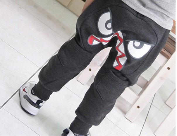 2015 New fashion boys pants Kids Clothing Boys Girl Unique Clothes Harem Pants baby Cartoon Trousers