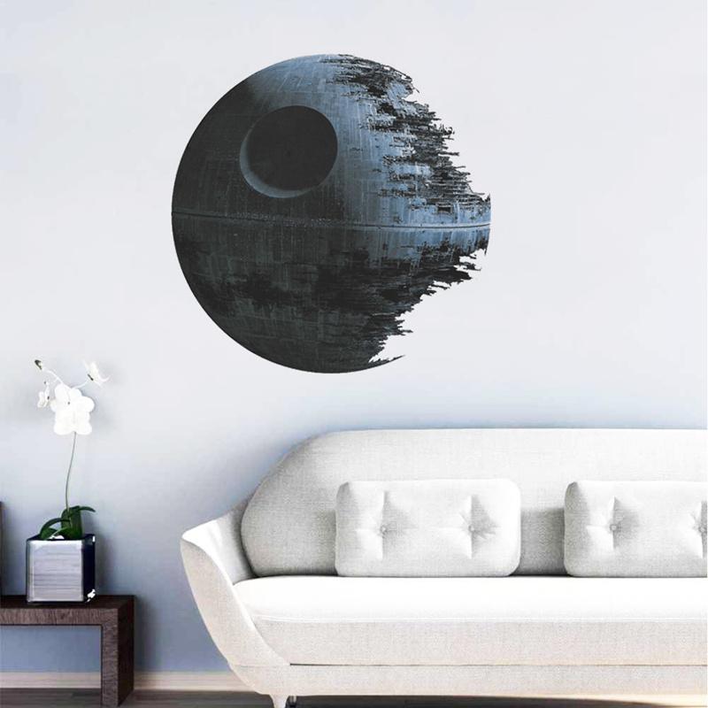2016 DIY Star Wars Death Star Image Vinyl Art Wall Stickers Decals Home Decor(China (Mainland))