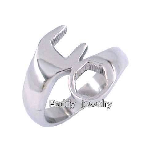 ! Motorcycle Biker Spanner Ring Stainless Steel GD0046 100% 316L - Paddy jewelry store