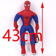 Marvel Vingadores Capitão América Homem De Ferro Hulk Thor Spiderman Plush Soft Toy Stuffed Boneca Presente para As Crianças Menino 43 cm(China)