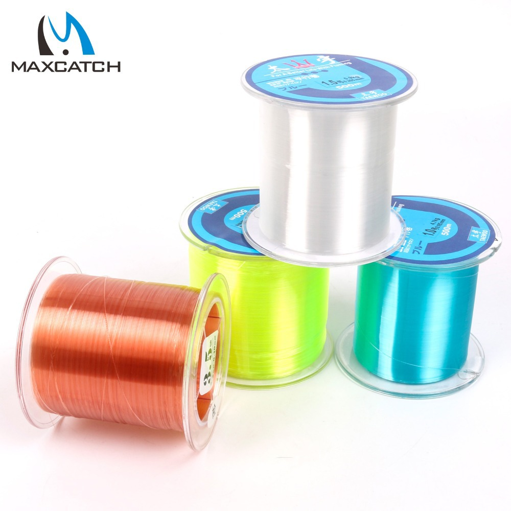 Maxcatch 500M Nylon Fishing Line Japan Rocky Road Line Nylon Thread The Line Number Of The Developed Tile Line(China (Mainland))
