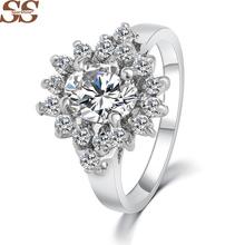 Fine 925 Sterling Silver Jewelry Ruby  Ring Rings Anillos Anel Pearl  Wedding  Bijoux Roxi Vintage For Women Joyas De Plata