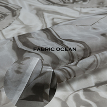 DEFECT: Pure silk organza fabric, abstract pattern, thin and sheer, a little defect, sew for top,shirt,dress,craft by the yard(China (Mainland))