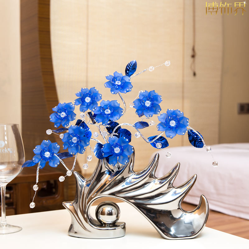 Home accessories Ornaments Goods of furniture for display rather than for use Originality Ceramics Fortune chloranthus herb(China (Mainland))