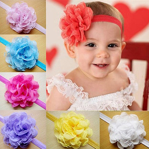 Baby Toddler Girl Chiffon Flower Headband Floral Hair Band Headdresshot(China (Mainland))