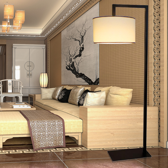 Designer lamp modern new chinese restaurant hotel and for Modern living room lamps