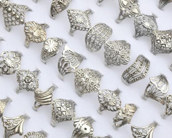 wholesale 30pcs jewellery bulks lots mixed vintage hollow