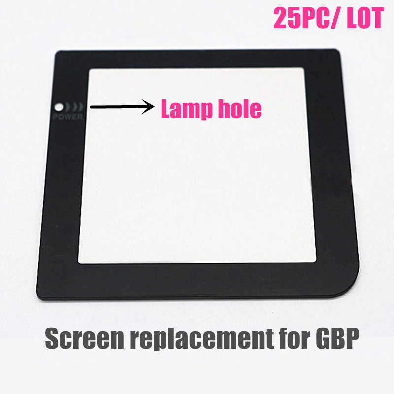 [25PC/ LOT] With Lamp Hole Protective Screen Lens for Nintendo GameBoy Pocket for GBP Replacement(China (Mainland))