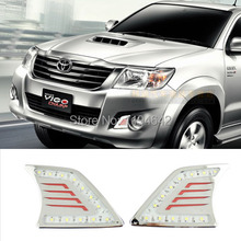 High quality! 2012~2013 TOYOTA HILUX VIGO daytime running light Fog lights 2pcs/set ! DRL LED fog lights 12V,6000k