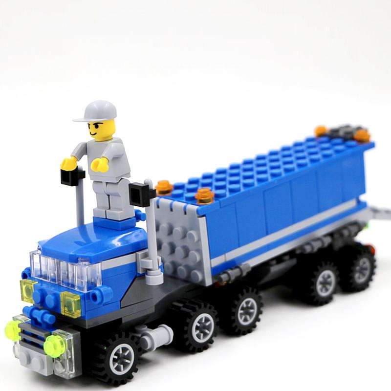 Kids gift Enlighten Child educational toys Dumper Truck DIY Building Block Sets Compatible Children Toys L255 - Space store
