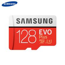 SAMSUNG Micro SD Carte Mémoire EVO + 128 GB 100 MB/s SDXC C10 U3 UHS-I MicroSD TF Carte EVO Plus 128G Classe 10 Grade 3 100% D'origine(China)