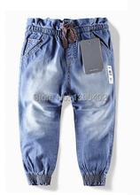 Розничная 2014 новые детские джинсы хлопок джинсовые детские джинсы девушки брюки детские длинные брюки WE6811