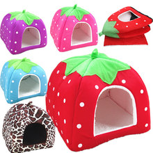 S-XXL Plus Size Hot Sale Folding Printed Dog Cat Houses Warm Soft High Quality Cotton Pet Dog Kennels Lovely Puppy Dog Supplies(China (Mainland))