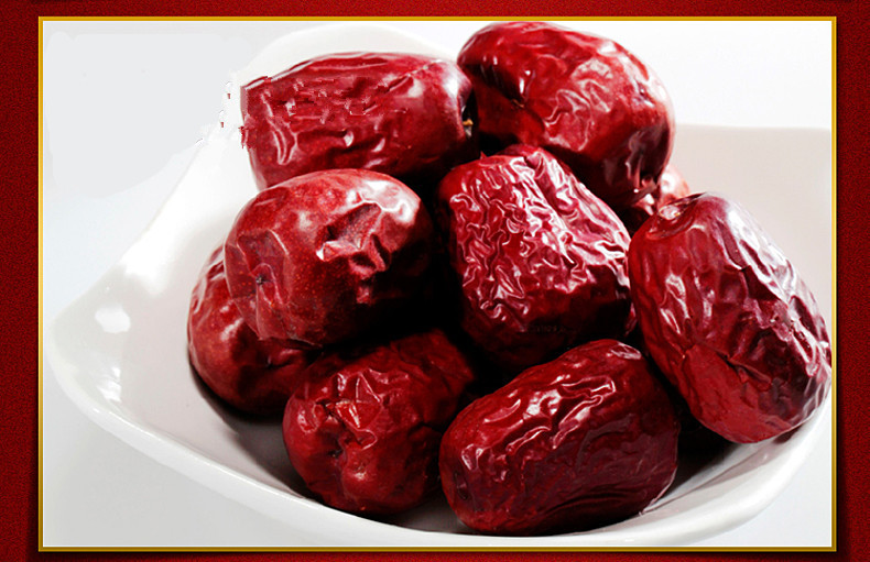 Freeshipping Xinjiang red date top quality Chinese red Jujube Premium red date Dried fruit Green nature