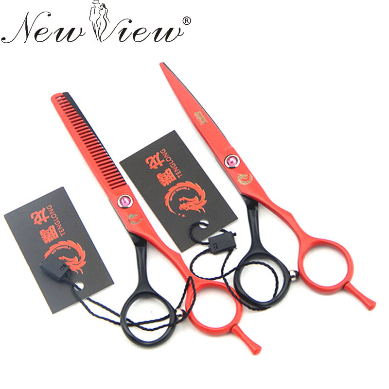 5.5 Inch Colored Hair Scissors Cutting / Thinning Professional Tesoura Hairdressing Salon Products Hair Styling Tools<br><br>Aliexpress