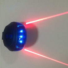 Bike Night Ride Warning Light 5 Blue LED 2 Laser Beam Bicycle Cycling Tail Rear Light Safety Warning Lamp Bike LED Light Red