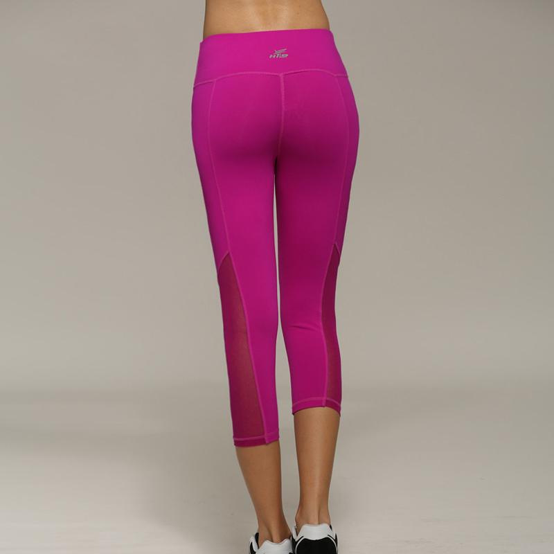 Wonderful 2016 Sexy Women YOGA Sports Pants Slim Mesh Leggings Stretch Fitness