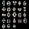5pcs New High Quality AB Rhinestone Alloy Nail Art Decorations Glitter Charm 3D Nail Jewelry DIY