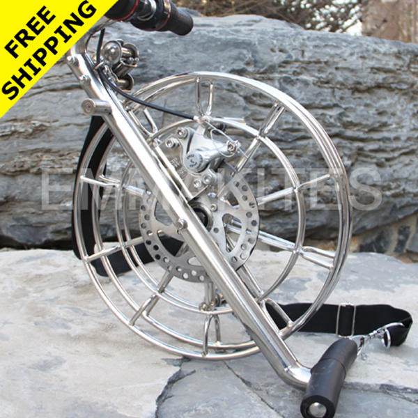 "New 12.6"" / 32CM Disc Brake Stainless Steel Kite Line Reel With Dual Brakes Control Kite String Reel Kite Winder Free Shipping(China (Mainland))"