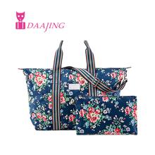 FREE SHIPPING Kingswood Rose cath canvas foldaway overnight bag Clock waterproof women handbags London Buses tote