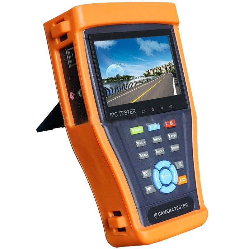 4.3'' IP camera tester CCTV tester monitor ip cameras HD SDI analog cameras testing cable scan ip revise PTZ 12V2A POE output(China (Mainland))