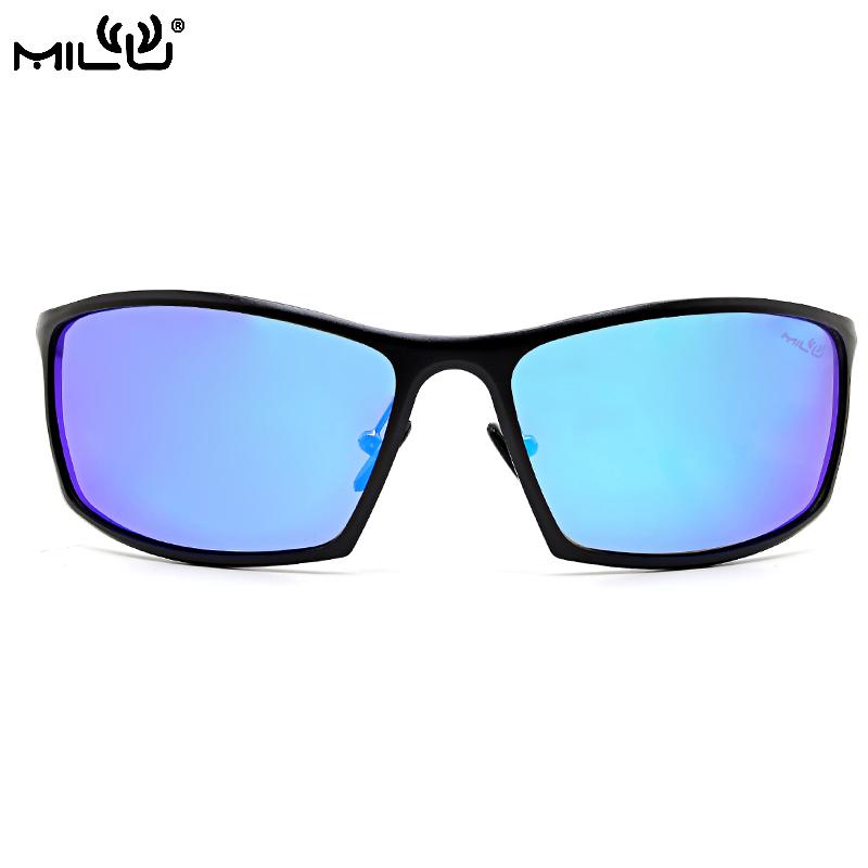 MILU Luxury Brand Logo Aluminum Magnesium Sunglasses men polarized Aviator Fishing Driving Goggles Pixel Mirror UV400 OA5020(China (Mainland))