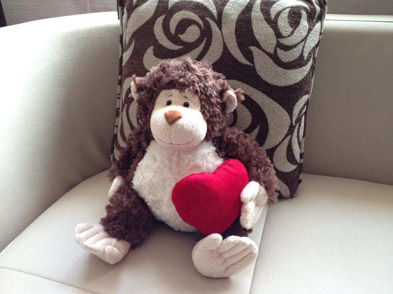 export orders Ganz plush monkey toys christmas gift 39cm Free shipping juguetes de los cabritos(China (Mainland))