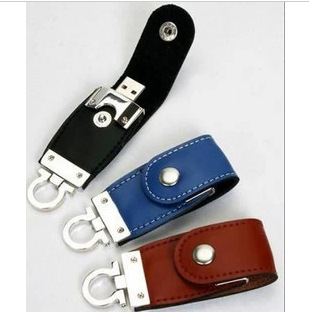Geniune Capacity Keychain Leather USB 2.0 flash drive 4G 8G 16G 32G 64G momery stick pen drive thumb gift free shipping hot sale(China (Mainland))