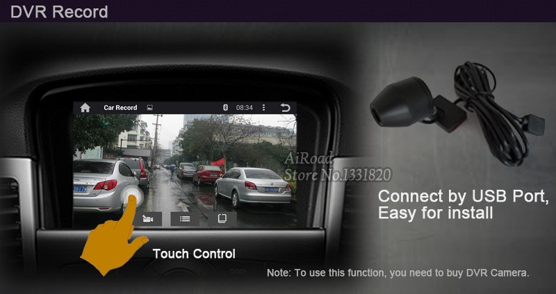 No Buttons Android 4.4 RK3188 Quad Core Cortex A9 1024*600 Capacitive Touch Screen 2 Din Universal Car Stereo GPS Navigation
