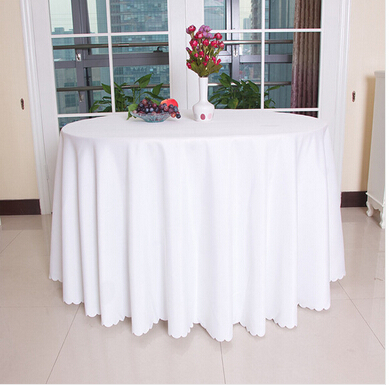 Big Size Polyester Round Rectangular 100% Polyester Table Cover Wedding Tablecloth Party Table Cover Dining Table Linen(China (Mainland))