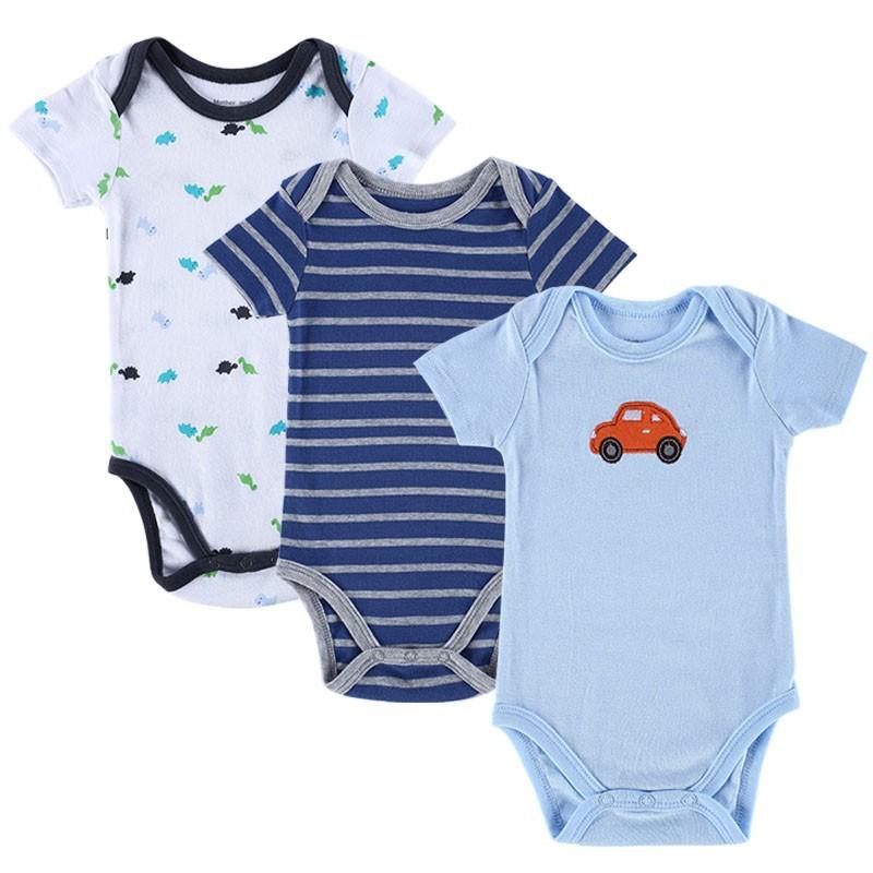 15101613 BABY BODYSUITS 3PCS 100%Cotton Infant Body Bebes Short Sleeve Clothing Similar Jumpsuit Printed Baby Boy Girl Bodysuits